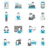 Set icons salesman flat Stock Photo