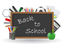 Set icons school supplies vector illustration Royalty Free Stock Image
