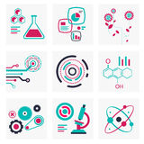 Set of icons of science and technology Stock Image