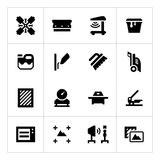 Set icons of screen printing Stock Photography