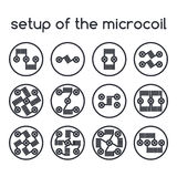 Set of icons. Setup of the microcoil Stock Photography