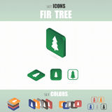 Set of icons. Several types of icons. Different color options. Vector illustration Stock Photography