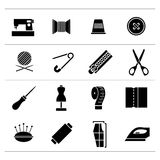 Set icons of sewing Stock Photo