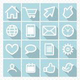 Set icons with shadow Royalty Free Stock Photos