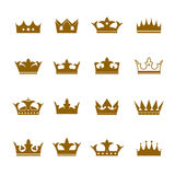 Set of  icons. Shape of Crowns Stock Photos