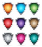 Set icons shield Stock Images