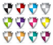 Set of icons shield Royalty Free Stock Photography