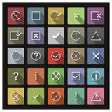 Set of icons and signs, vector illustration. Stock Photos