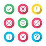 Set of icons and signs, vector illustration. Royalty Free Stock Image