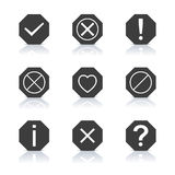 Set of icons and signs, vector illustration. Stock Images