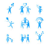 Set of Icons - Silhouette family Royalty Free Stock Image