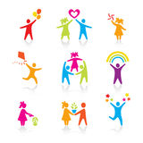 Set of Icons - Silhouette family Stock Photography