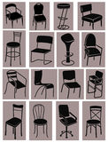 Set of chairs Stock Image