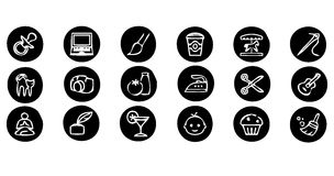 Set of icons. Simple set of  icons for your design and application Royalty Free Stock Images