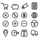 Set of icons for site Royalty Free Stock Photography