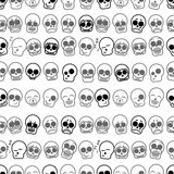 Set of icons skull illustration. Vector seamless Stock Photography