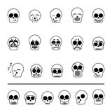 Set of icons skull vector. Set of diferent icons skull vector illustration Royalty Free Stock Images