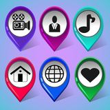 Set of icons for social network 2 stock illustration
