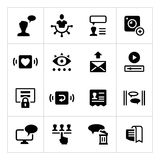 Set icons of social network Royalty Free Stock Photos