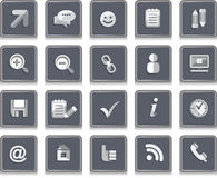 Set Icons Social Networking Stock Photos