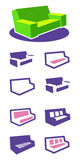 Set of icons sofa vector illustration