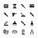 Set icons of soldering Royalty Free Stock Image
