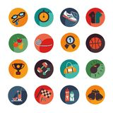 Set icons of the sport and health. Vector Illustration Royalty Free Stock Images