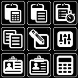 Set of icons (stationery, office, work) Royalty Free Stock Image