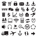 A set of  icons. Stock Images
