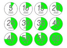 Set of icons stopwatch. Royalty Free Stock Photo