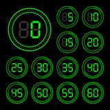 Set of icons stopwatch. Stock Images