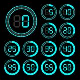 Set of icons stopwatch. Royalty Free Stock Images