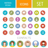 Set of icons in the style of the material design. Set of modern style icons material design. The collection of symbols for web intefeys and mobile applications Royalty Free Stock Photo