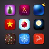 Set of icons stylized like mobile app. Vector Stock Images