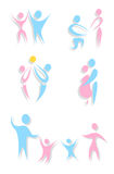 Set of icons of stylized man and woman Stock Photo