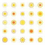 Set of icons sun, vector illustration Stock Photography