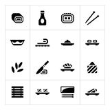 Set icons of sushi Royalty Free Stock Image