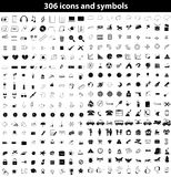 Set of icons and symbols. Set of the different icons and symbols on a white background royalty free illustration