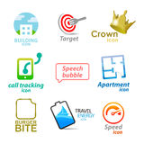 Set of  icons and symbols Royalty Free Stock Photo