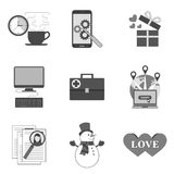 Set of icons and symbols Stock Images