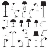 Set of icons  table lamps Royalty Free Stock Photo