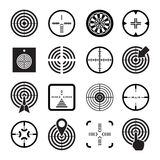 Set icons of target and sights. Isolated on white vector illustration