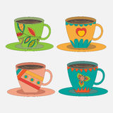 Set icons tea / coffee cups - vector Stock Photo
