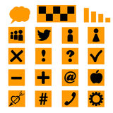 Set of icons, templates for a site. Vector Royalty Free Stock Photos