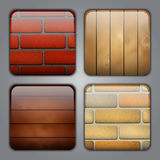 Set of icons with textures Royalty Free Stock Images