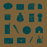 Set of icons on the theme of business and work royalty free illustration