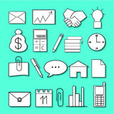 Set of icons on the theme of business. And work Vector Illustration
