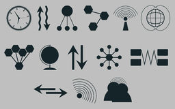 Set of icons on a theme communications.Vector. Art Royalty Free Stock Image