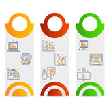 Set icons on a theme of economic crisis Royalty Free Stock Photo
