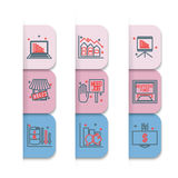 Set icons on a theme of economic crisis Royalty Free Stock Images